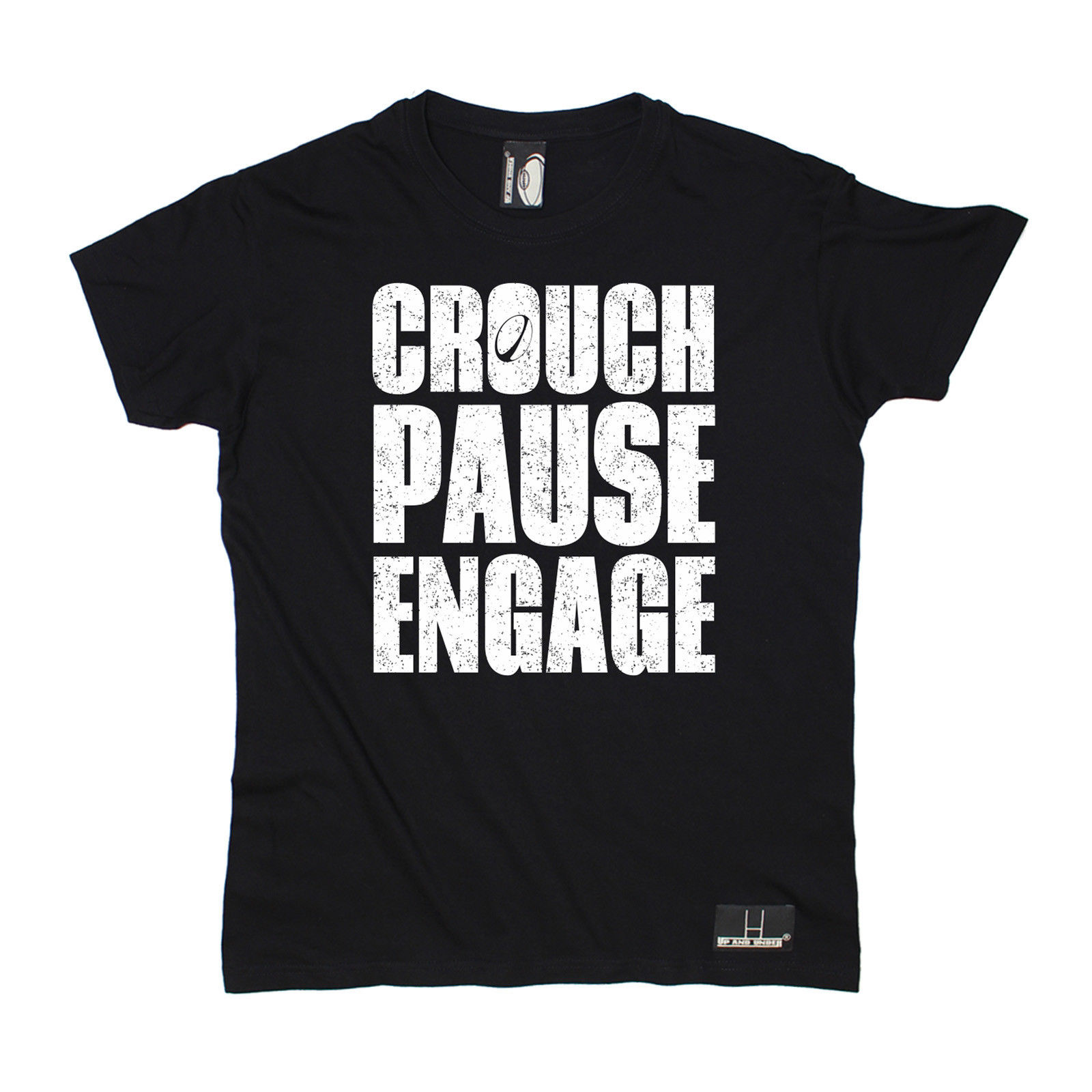 Crouch Pause Engage T-SHIRT Tee Rugbying Rugga Team Funny Birthday Gift Present Him Print T Shirt Summer Style Clothing T shirt(China (Mainland))