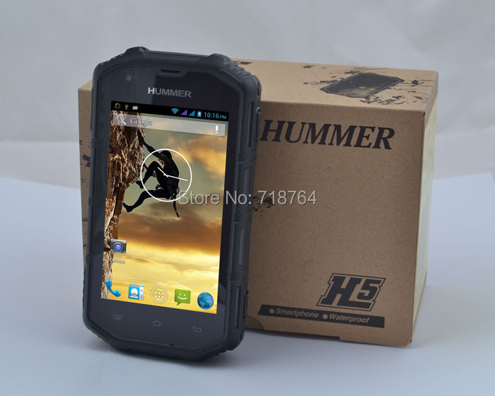 Guophone Hummer H5 IP68 dustproof waterproof Android 4.0 WCDMA 3G Smart Phone Shockproof GPS 4inch sreen outdoor mobile phone(China (Mainland))