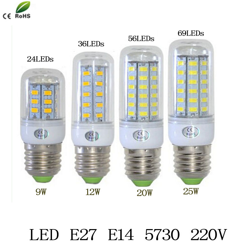 Buy E27 5W 400lm 3000K 36-SMD 5730 LED Warm White Corn Bulb (AC 220-240V) at DealExtreme ...