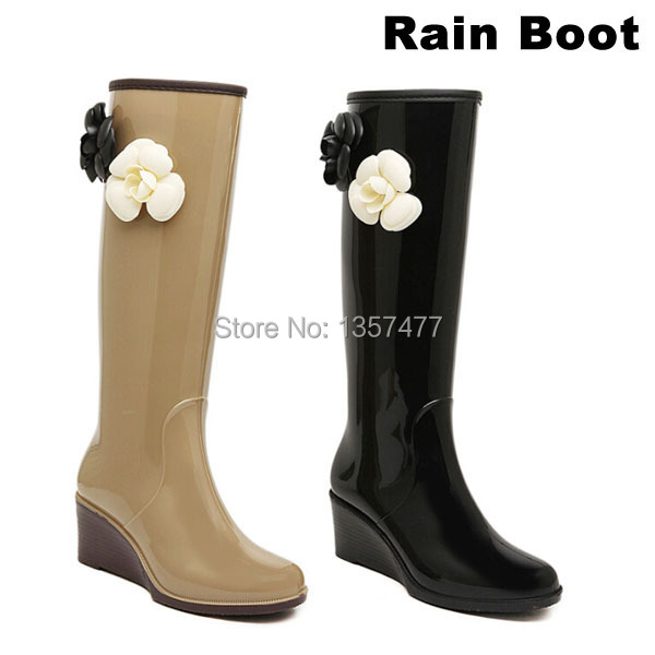 Long Winter Boot.Wallies Women Bootes.Botines.Botines 2014.Rain Boots.Botas de agua mujer.Rubber Bootes.Rain Boot Womens - Rosa Fashion Shoes CO.,Ltd store