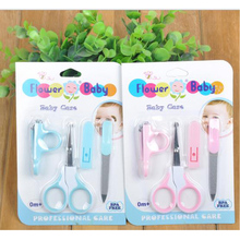 New baby finger scissors  Mini Baby Nail Care Practical Clipper Trimmer Convenient Daily Baby NailCare Set(China (Mainland))
