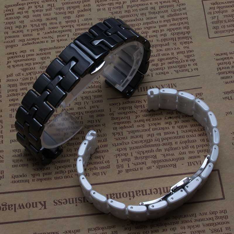 16mm watchband high quality Ceramic Never fade Watch accessories for diamond Watches womens bracelet polished bright fashion new