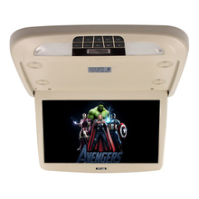 13.3 Inch Flip Down TFT LCD Monitor With MP5 Player Car Roof Mount Monitors IR