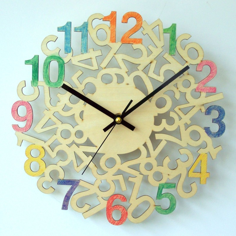 DIY wooden art clock / wall clock [ magic number ](China (Mainland))