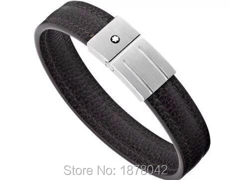 2015 new arrival germany brand mens Genuine Leather bangle Bracelet with 316 Stainless Steel magnet clasp for man<br><br>Aliexpress