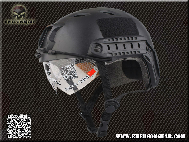 Emerson FAST airsoft Helmet with Protective Goggle Base Jump BJ Type Black EM8818B(China (Mainland))