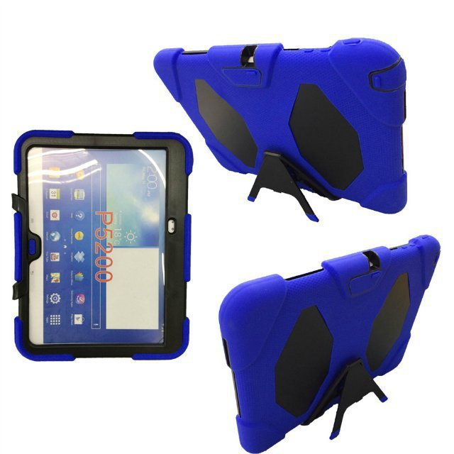 Durable Stand Shell Belt Clip Silicon Case Cover For Samsung Galaxy Tab3 Tab 3 10.1 P5200 P5210(China (Mainland))
