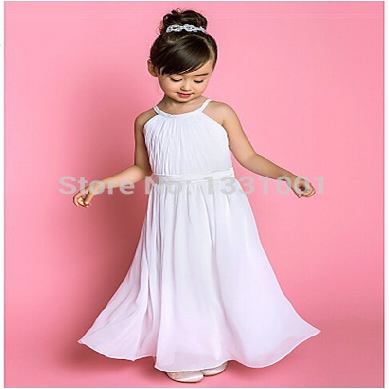 Buy white rustic flower girl dresses for for Flower girl dress for beach wedding