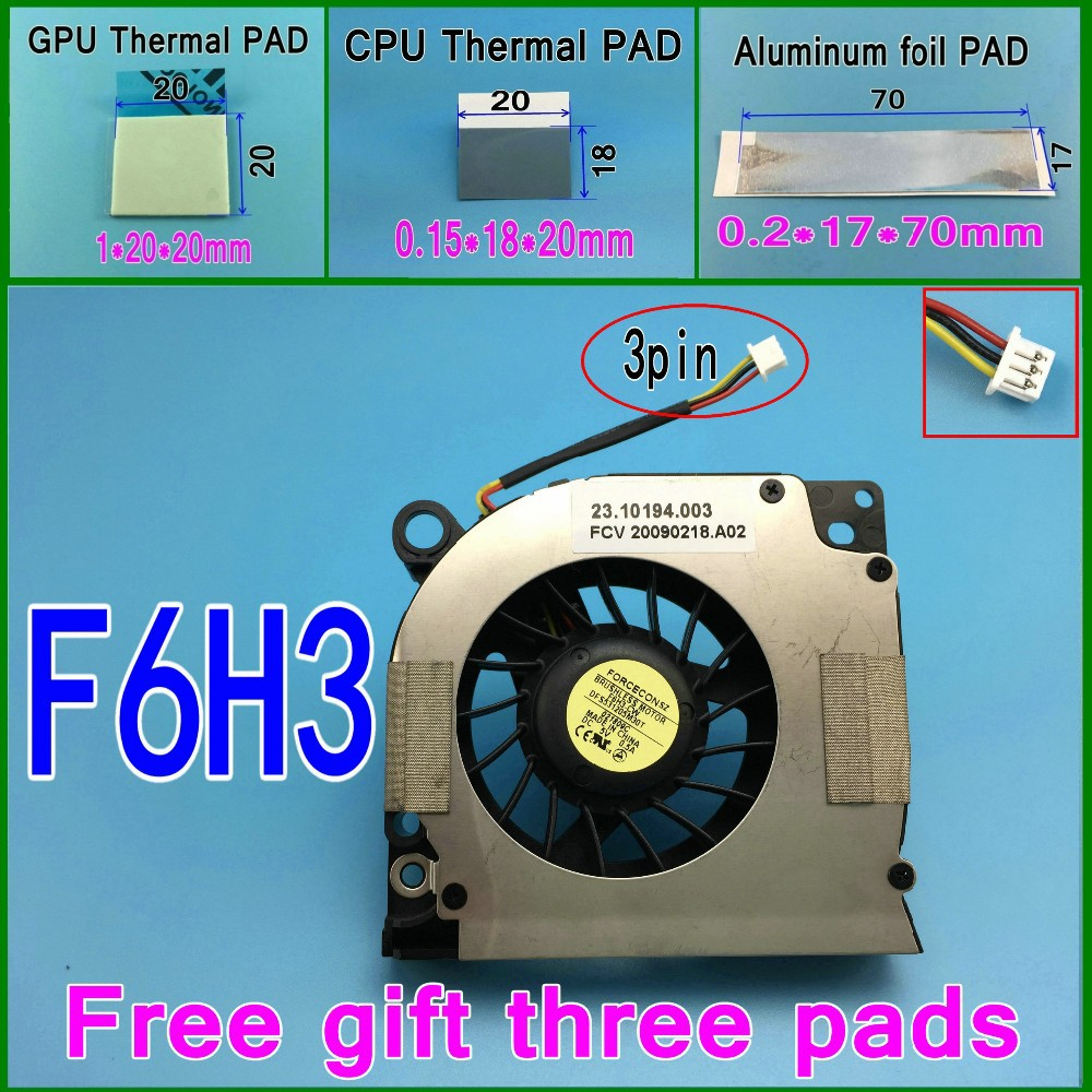 Gift 15 thermal pad New For Dell Vostro 500 Acer eMachines D620 Cooler fan DFS531205M30T F6H3 F6H3-CW cooling fan or F783<br><br>Aliexpress