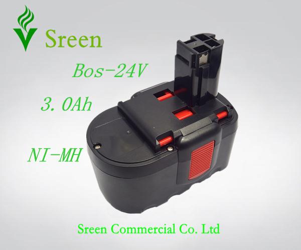 New 24V NI-MH 3000mAh Replacement Power Tool Battery for Bosch 2 607 335 446 2 607 335 268 BAT299 BAT240 BAT031 BAT030(China (Mainland))
