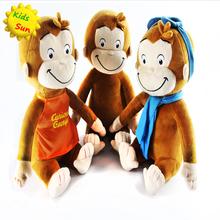 2016 Cute 30CM CURIOUS GEORGE Monkey plush toy Stuffed Animals & Plush Kids Christmas Birthday Gift  (China (Mainland))