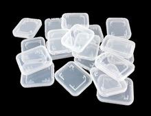 Pack of 10 Transparent SD / MMC / SDHC Memory Card Plastic Storage Case Holder(China (Mainland))