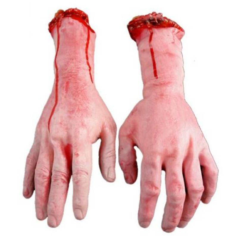 Hot Funny 1pcs Bloody Fake Body Parts Realistic Severed Arm Hand Walking Dead Fool Halloween Tool(China (Mainland))