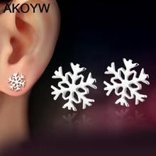 Silver plated jewelry snowflake earrings lovely lady fashion high quality jewelry manufacturers, wholesale(China (Mainland))
