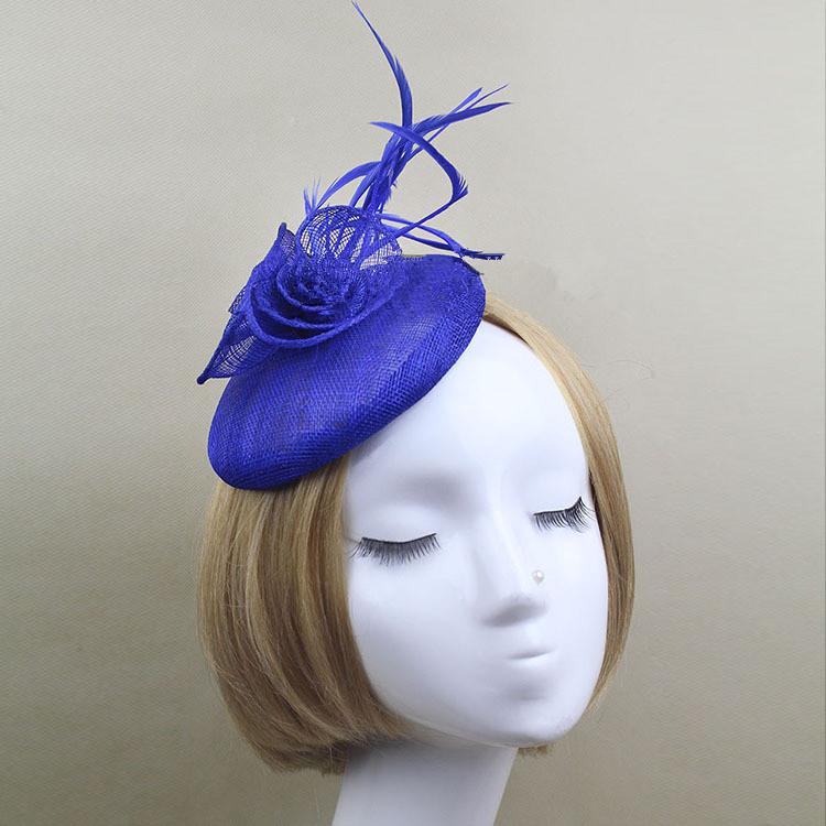 Top Hat Veil Fascinator Hair Flower Wedding Hats And Fascinators Bridal Hair Acessories Chapeu Casamento WIGO0549(China (Mainland))