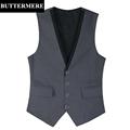 Formal Suit Vest Men s Grey Black Wedding Waistcoat New Design Business Style Sleeveless Suit Jacket