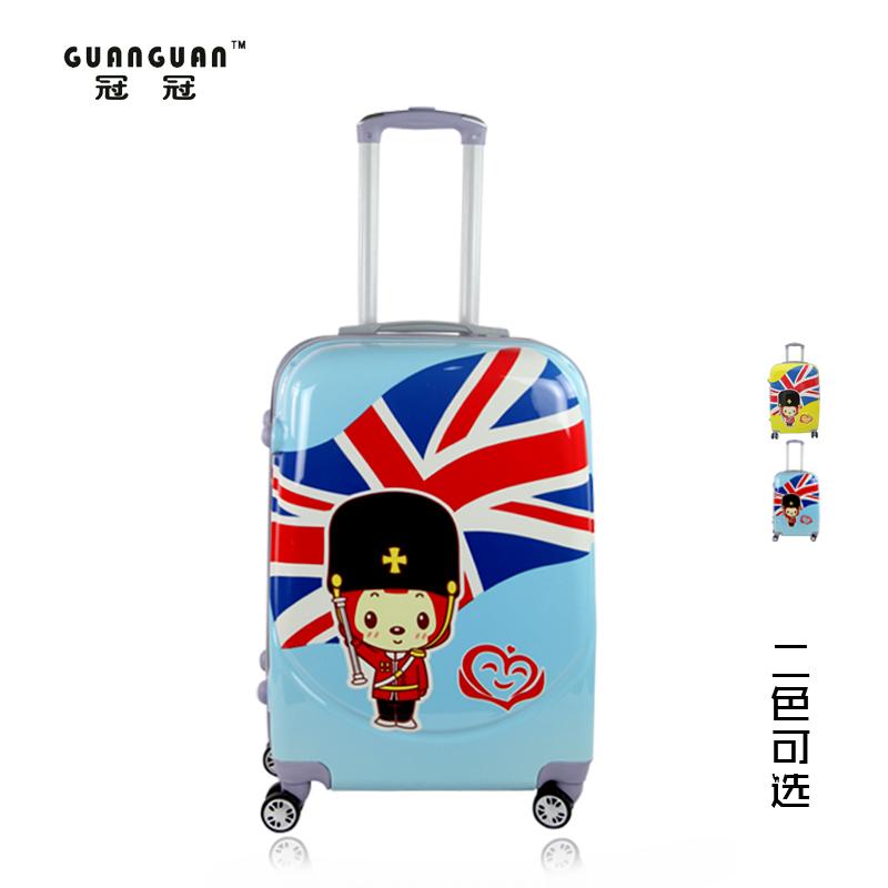 Hyraxes luggage wheels universal male cartoon 24 trolley bags female child travel bag