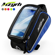 2014 4.0/4.8/5.5 inch waterproof bike frame top tube bag 5 colors bicycle bag mountain bicycle accessories touchscreen phone bag