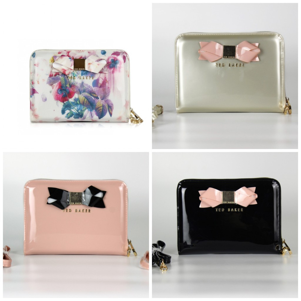 FREE SHIPPING florals printing pad case pink ted butterfly mini pad case small messenger jelly bag black bow women shoulder bag(China (Mainland))
