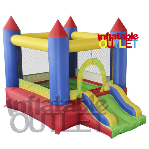 Mini residenital bouncy castle bounce house inflatable jumping castle slide bouncer free shipping(China (Mainland))