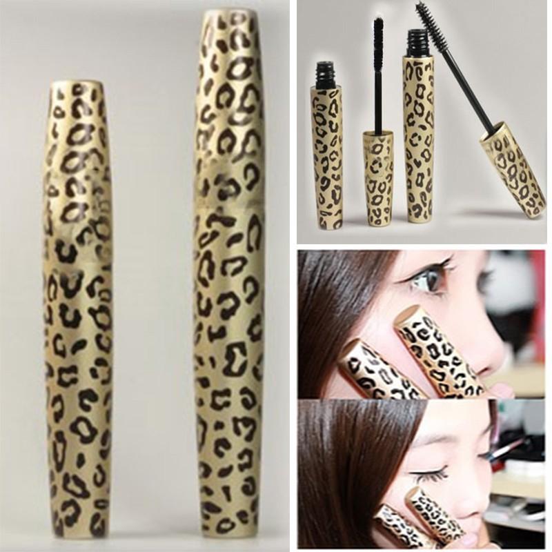Two new eye makeup remover Mascara long eyelashes curved stretch Pang Mascara Waterproof Mascara Leopard fiber(China (Mainland))