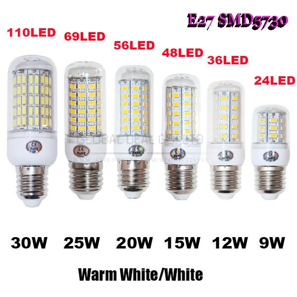 Гаджет  E27 SMD5730 chandelier 9W 12W 15W 20W E27 led bulb lamp Warm White/white, 24LEDs 36LEDs 48LEDs 56LEDs 5730 220V/110V led Light None Свет и освещение