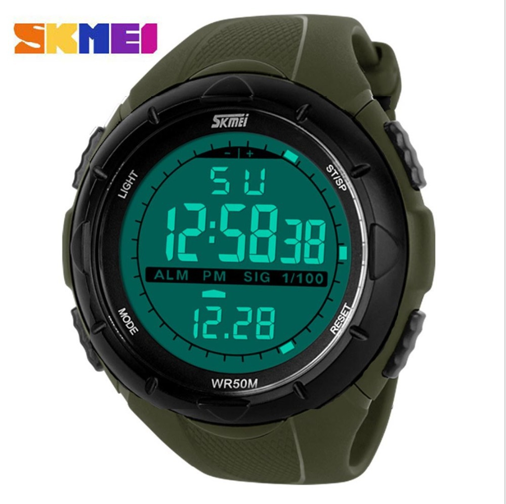 2015 Summer Style Mens Watches Top Brand Luxury Military Skmei Men Sports Digital Watch LED Outdoor Waterproof Automatic Watch(China (Mainland))
