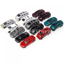 Free Shipping 100pcs Painted Model Cars Building Train Layout Scale N Z (1 to 200) C200-4(China (Mainland))