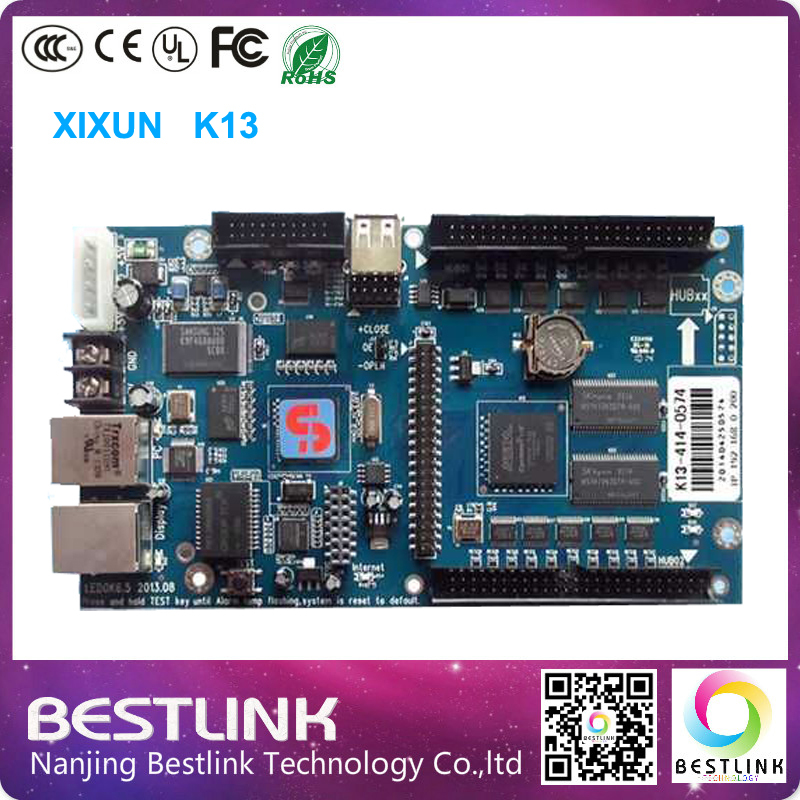 Xixun K13 sending card led full color display screen asynchronous system WIFI led controller card 128*2400 pixel led video wall(China (Mainland))