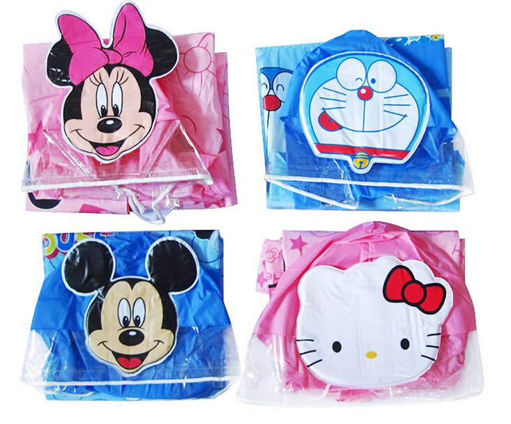 2015 New kids Cartoon rain coat children's raincoat waterproof rainwear unisex child Four styles 1PCS free shipping(China (Mainland))