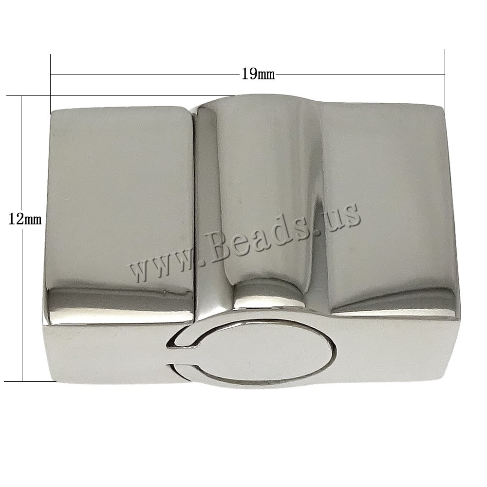 Drop shipping!20 PCs 19x12x9mm Rectangle Stainless Steel original color Magnetic Clasp Jewelry findings