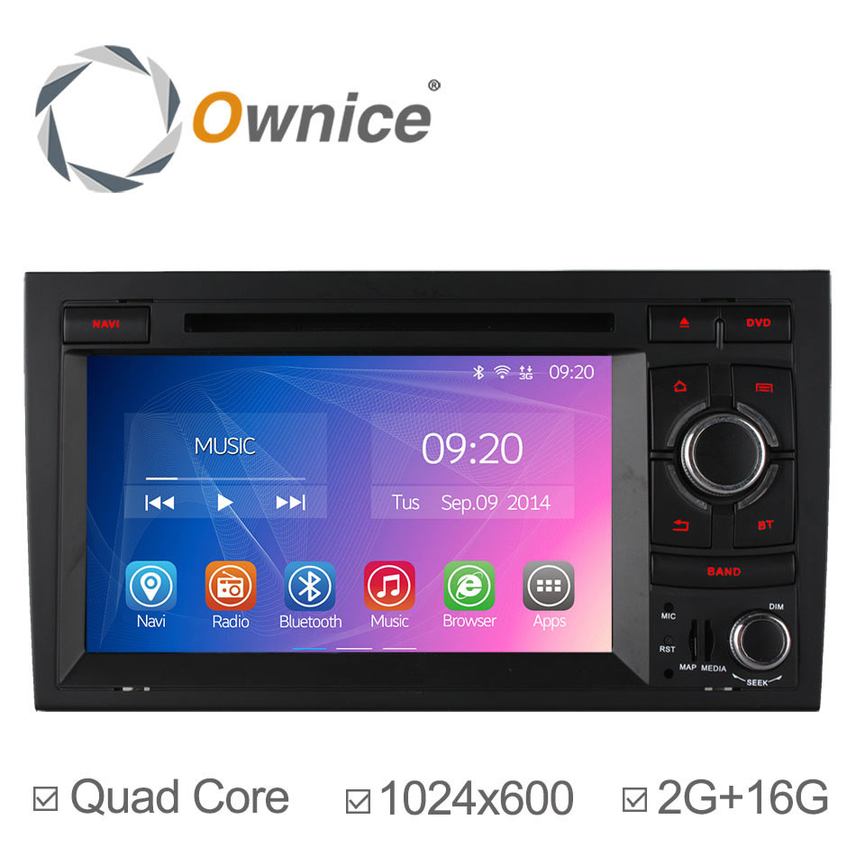 2G RAM 1024*600 Quad Core Android 4.4 Car DVD Player For Audi A4 2002 2003 2004 2005 2006 2007 With Bluetooth GPS Navigation 16G<br><br>Aliexpress