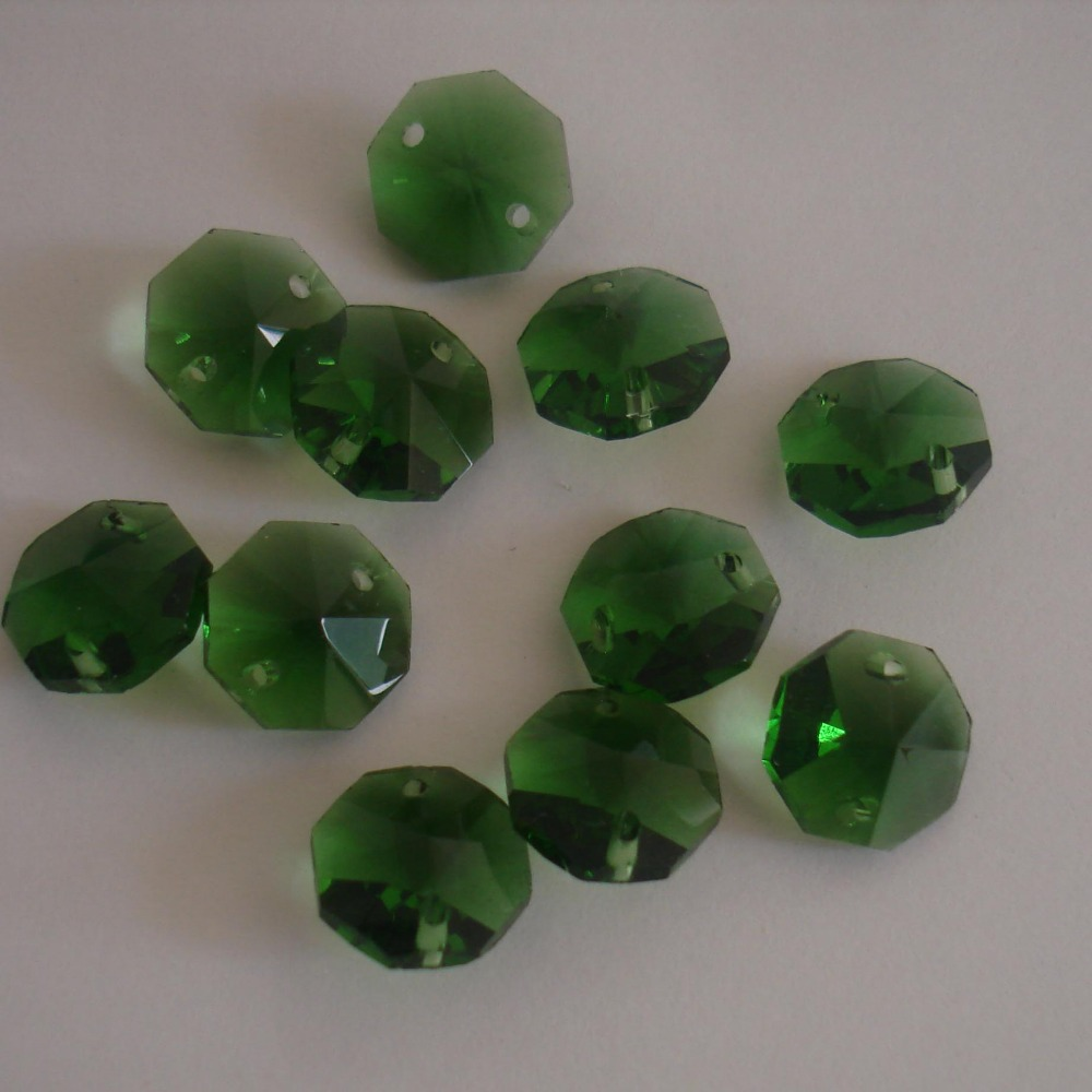 2000pcs/lot 14mm emerald lustres e pendentes glass beads in 2 holes for chandelier garland strand or lamp free shipping.<br><br>Aliexpress