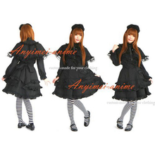 Free Shipping Sissy Maid Gothic Lolita Punk Fashion Dress Cape Cosplay Costume Tailor-made