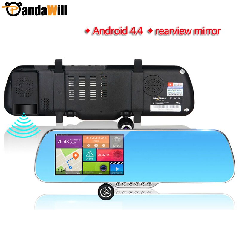 "5"" Android4.4 rearview mirror Car GPS Navigation navigator Car DVRS Rear view camera WIFI Navitel/Europe map Truck vehicle gps(China (Mainland))"