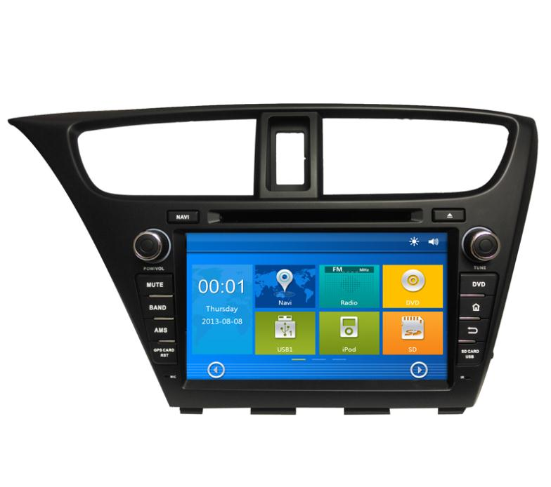 Car GPS navigation DVD for Honda Civic 2014 with Bluetooth, 3G Ipod(China (Mainland))