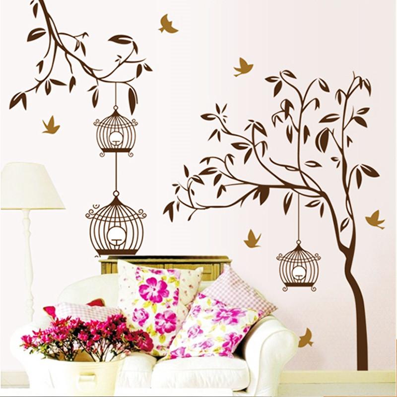 Wall sticker tree wallstickers room decoration vinilos for Vinilos pared aliexpress