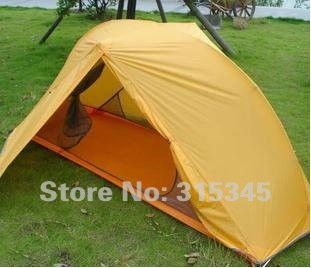 1PCS 1Person Quality Products Camping Beach Strong Waterproof Aluminum Tents(EMS 45%) Weight:1.7KG Yellow Size:200*95CM(China (Mainland))