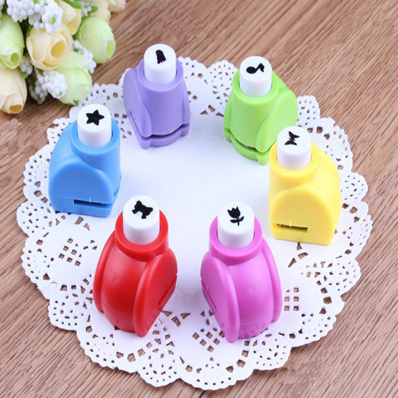 Child Kid Mini Printing Paper Hand Shaper Scrapbook Tags Cards Craft DIY decoration Punch Cutter Tool party decor toy confetti(China (Mainland))