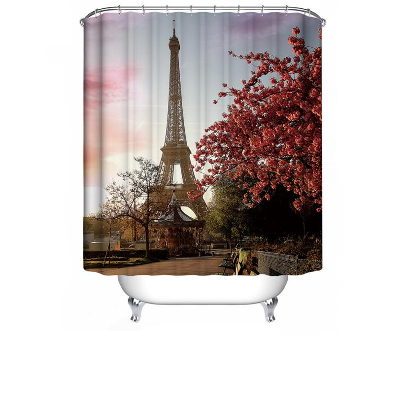 Custom Fabric Waterproof Bathroom Shower Curtain 72 * 72 Prevent water from splashing out of the shower stall(China (Mainland))
