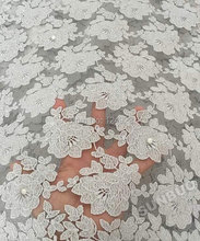 Silver shine bridal french net lace African Swiss lace fabric with beads for sewing wedding lace aso ebi 5 yards per piece 9113(China (Mainland))
