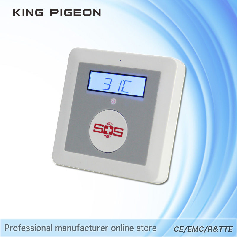 K3 GSM Home Alarm System SOS Call Elderly Care Alarm Home Safety Security Equips LCD Temperature Detector Big SOS Button(China (Mainland))