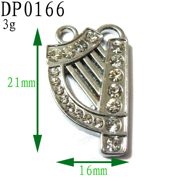 21mm Full Stone Zinc Alloy Instrument Pendant,Organ Charms Pendant Free Shipping Wholesale and Retail,200pcs/bag<br><br>Aliexpress