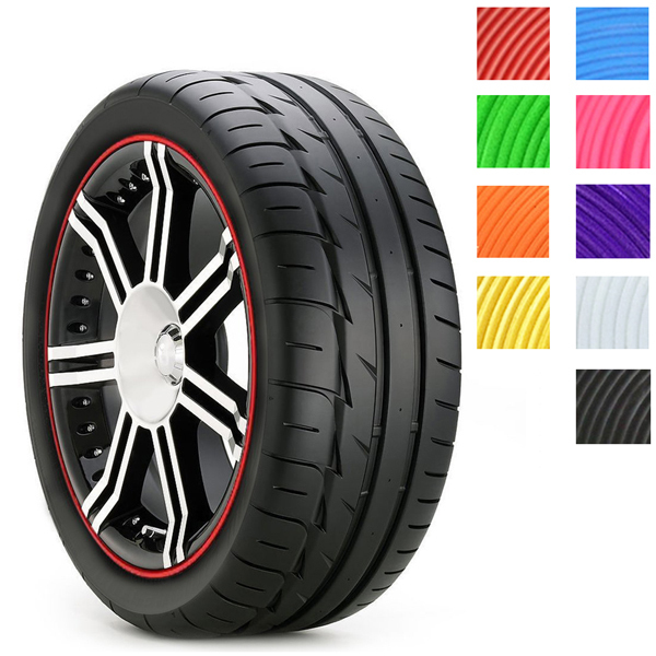 9 Colors 8 Meter Car Wheel Hub Tire Sticker Car Decorative Styling Strip Covers Auto Accessories(China (Mainland))