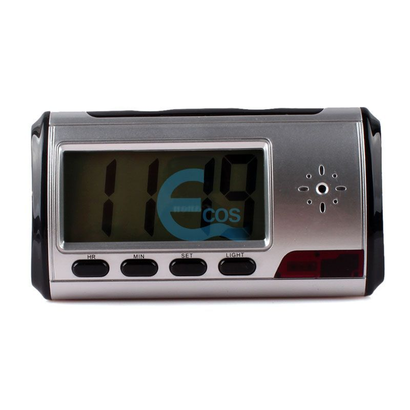 MINI Remote Digital Alarm Clock Surveillance Cam Video DVR Support TF CARD #61098(China (Mainland))