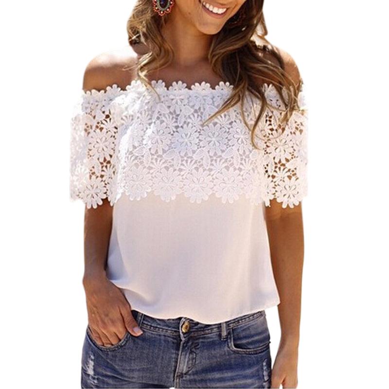 Lastest Women39s New Fashion Vintage Long Sleeve Sheer Tops Lace Shirt Chiffon