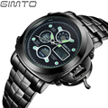 GIMTO Luxury Brand Men Sports Watches Digital LED Sport Wristwatches 50m Water Resistant Relogio Masculino For