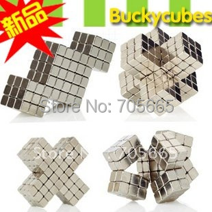 Bucky Neo Size: 5mm 125pcs/set+2pcs With Metal Box Magnetic cube Block Nickel Magnet ball magic toy(China (Mainland))