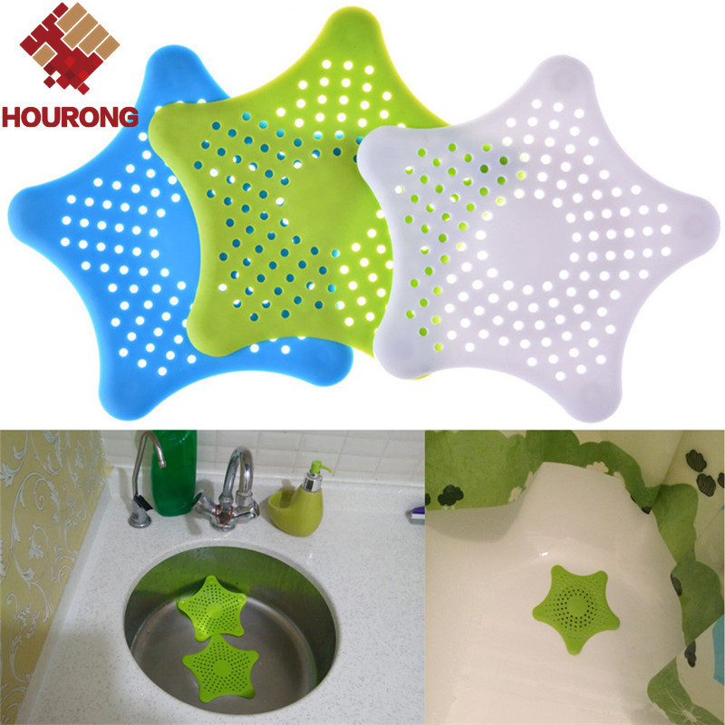 2016 1Pc Colorful Silicone Kitchen Sink Filter Sewer Drain Shower Drain Hair Colanders Strainer Filter Bathroom Floor Drain(China (Mainland))