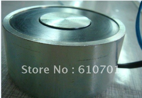 80mm OD 12VDC Holding Electromagnet Lift 100kg Solenoid P80/38 Electric Lifting Magnet(China (Mainland))